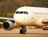 Airplane Taxiing Ready For Take Off To A Summer Destination