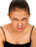 Angry Asian Girl Pulling A Face