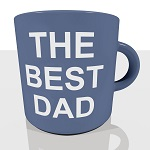 The Best Dad Mug Showing A Cool Father