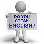 Do You Speak English Sign Showing Language Learning