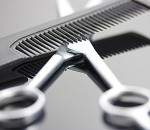 Scissors And Comb For A Hairdresser