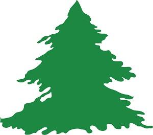 Christmas tree vector - Illustration